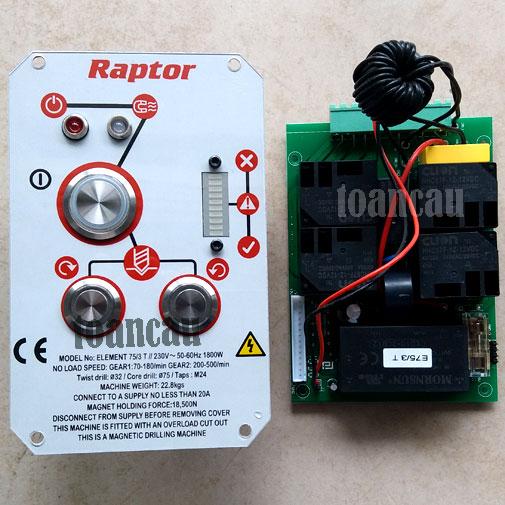 Bo mạch máy khoan từ Raptor