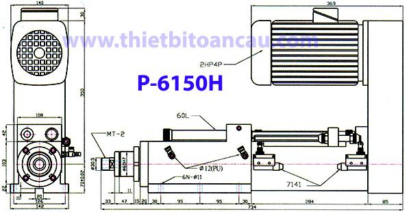 Đầu máy khoan dùng khí nén P-6150H