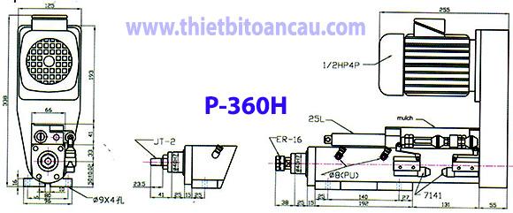 Đầu máy khoan tốc độ cao P-360H
