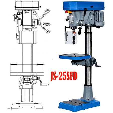 Máy khoan bàn 1HP 25mm 9 tốc độ JS-25SFD