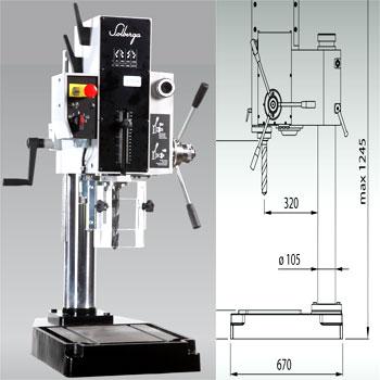 Máy khoan bàn 32mm cao 1m2 SE-2030BM