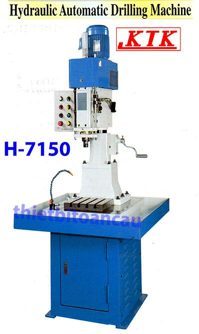 Máy khoan bàn tự động thủy lực H-7150