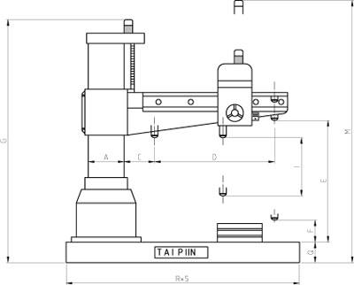 Thông số khoan cần Tailift TPR-720A