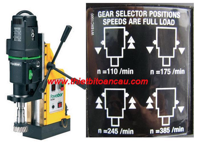 Chọn kiểu tốc độ máy khoan từ bằng hộp số cơ khí
