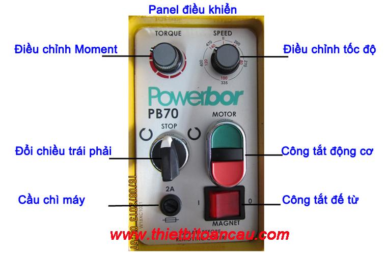Panel điều khiển máy khoan từ PB 70